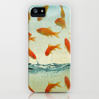 raining gold fish iPhone & iPod Case by Vin Zzep