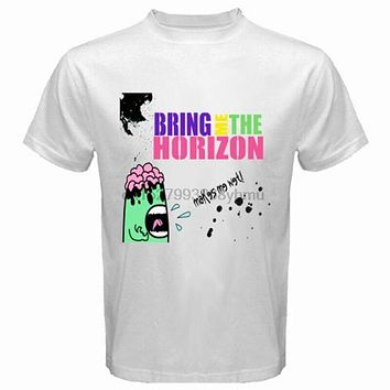 New Bring Me The Horizon Makes Me Wet Rock Band Men's White T Shirt Size S 3XL|T-Shirts
