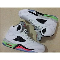 Air Jordan 5 while black Basketball Shoes 41-47
