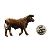 Bull Pin ~ Antiqued Copper ~ Lapel Pin