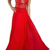 Bolero Red Chiffon Long Formal Evening Dresses Party Gowns Figure Color Free Size