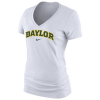 Baylor Bears Nike Women's Arch Cotton V-Neck T-Shirt - White