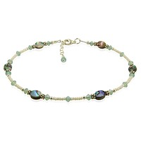Pacific Opal Green Abalone Shell Anklet