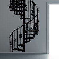 Vinyl Wall Decal Sticker Spiral Staircase #OS_MB606