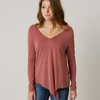 BKE RED T-BACK TOP