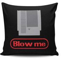 Blow Me Gamer Pillow Cover