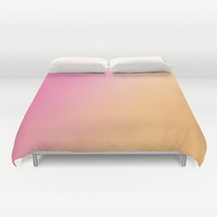 Pink to Orange Ombre Bed Cover - Duvet Cover Only - Bed Spread - Ombre Pink to Orange - Made to Order
