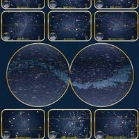 Constellations of the Zodiac Star Map Poster 24x36