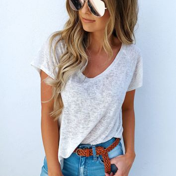 Everything You Want Top: Beige