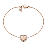 Rose Golden Logo Heart Bracelet - Michael Kors - Rose gold