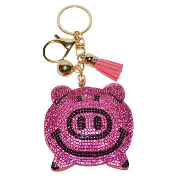 Pink Pig Key Chain for Women Purse Charm Backpack Charm