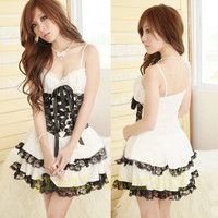 Cute Lolita Princess Girl Skirt dress lace babydoll Lingerie one piece A82