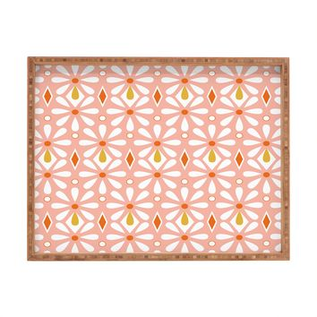 Heather Dutton Fleurette Radiant Rectangular Tray