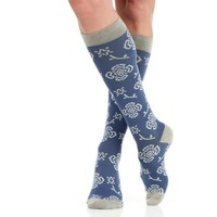 Floral Compression Socks for Women in 2 Color Combinations