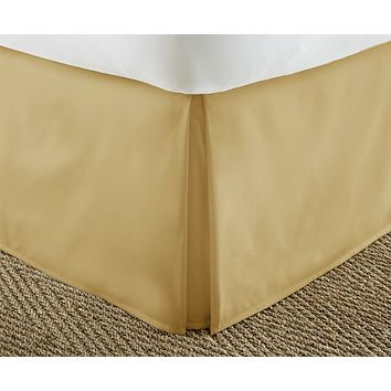 Soft Essentials Premium Pleated Bed Skirt Dust Ruffle - Gold - King