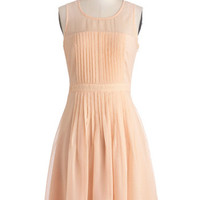 ModCloth Pastel Mid-length Sleeveless A-line Pleats to be Here Dress