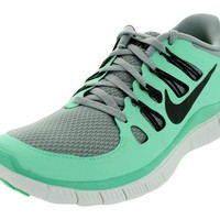 Nike Womens Free 5.0+ Running Shoes Silver/Charred Grey/Green Glow/White 580591-003 Size 7