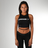 Gymshark Ribbon Crop Top - Black
