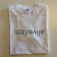 "Twenty One Pilots T-shirt ""Truce - Stay Alive"" (Handmade/Fan made)"