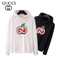 Gucci new Apple GG print fashion men's and women's hoodie