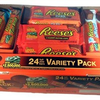 Reese's Variety Pack 24 count bars (Reese's PB Cups, Reese's Dark PB Cups, Fast Break, and Whips) (Pack of 2)