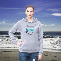 Mermaid Soul  Cotton Hoodie Sweatshirt Fleece Summer Beach Style Fashion Boho Chic You Choose Color by Wave of Life™