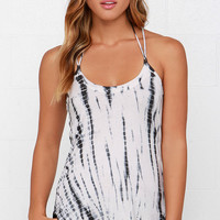 Chaser Tie-Dye Lace-Up Tank Top