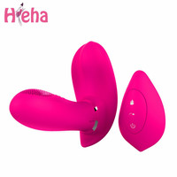 Hieha Magic Wand G-spot Vibrator Wireless Remote Control Butterfly Vibrators Charging Vibrating Body Massager Sex Toys for Woman