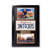 """""""Fast & The Furious"""" Paul Walker Movie Car License Plate Framed Collage"""