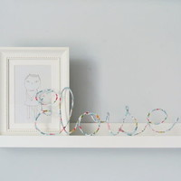 Betsy Liberty Fabric Wire Name Sign