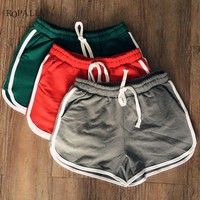 European Style Women Shorts 4 Colors Causal Home Short Women's Fitness workout Shorts Hot Sale