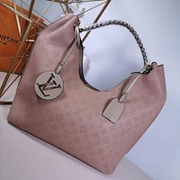 lv louis vuitton women leather shoulder bags satchel tote bag handbag shopping leather tote 52