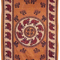"""African Elephants Tapestry 55"""" x 85"""" - Assorted Colors"""