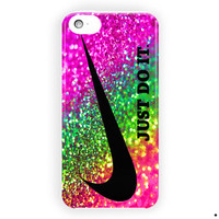 Nike Just Do It  Rainbow Sparkle Glitter For iPhone 5 / 5S / 5C Case