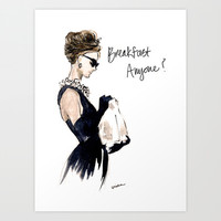 Breakfast Anyone? Art Print by A Thing Created