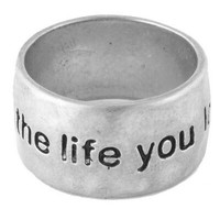 'Live the life you love' Ring