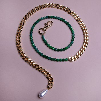 50/50 Jade Belly Chain