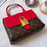 Louis Vuitton LV new classic printed stitching color ladies shopping handbag shoulder bag