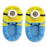 """Win8Fong Despicable Me Plush Soft Minion Shoes Slippers Stewart One-eyed Minion 11"""""""