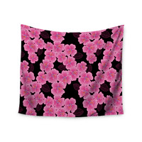 """Julia Grifol """"Pink on Black"""" Wall Tapestry"""