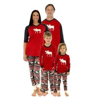 family christmas pajamas mother father baby clothes family look outfits  cotton long-sleeve family set pajamas AF-1741