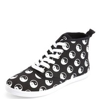 Canvas Lace-Up Hi-Top Sneaker: Charlotte Russe