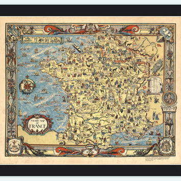 Old Map of France Story Map