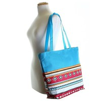 Aztec Beach Town Utility Tote Bag - 16-in