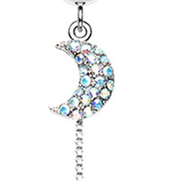 Celeste Moon and Star Belly Button Ring