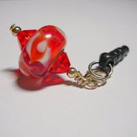 Orange Cell Phone Dust Plug Charm