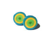Small Sprial Studs - Yellow, Green and Blue, Eco Friendly, Retro