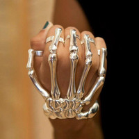 Skeleton Hand, Ring Bracelet