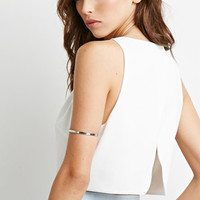 Scalloped Open Back Crop Top