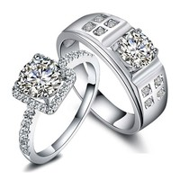 Engravable 2 Carats Diamond Designers Engagement Gold Rings
